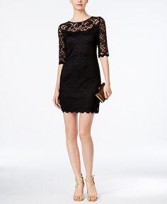 89.00$  Watch now - http://vimej.justgood.pw/vig/item.php?t=ovegzt50360 - Illusion Lace Sheath Dress 89.00$