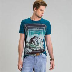 38b6123cba Enfim Webstore -Camiseta masculina algodão flamê - Produtos