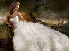 wedding dress, enchanted dress