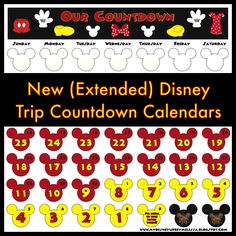 photo about Disney Countdown Calendar Printable titled Countdown in the direction of Disney