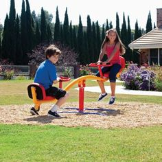 The kids will have a blast on the unique Gym Dandy 360 Degree Teeter Totter. It features a pendulum rocking motion that whirls 360 degrees! ...