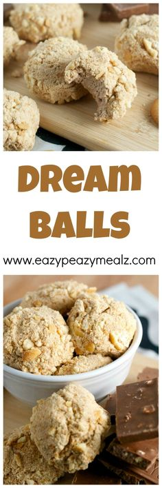 Dream Balls: A fun family favorite that uses whipped cream, cream cheese, chocolate bars, and vanilla wafer to make tasty, fluffy, delicious treats! - Eazy Peazy Mealz