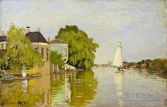 Claude Monet Houses On The Achterzaan oil painting reproductions for sale