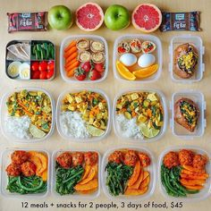 Healthy Weekly Meal Plan, Diet Meal Plans, Weekly Food Prep, Daily Meal Prep, Healthy Snacks, Healthy Eating, Healthy Recipes, Healthy Packed Lunches, Clean Eating