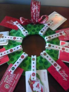 Teacher gift card wreath...