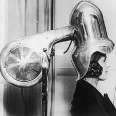 Chrome-plated hair dryer, 1928