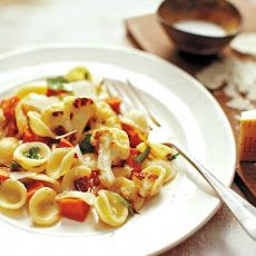 Pasta with Roasted Vegetables and Bacon Recipe