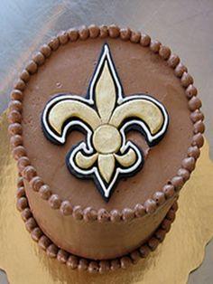 New Orleans Saints Cake!