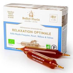 Relaxation Optimale Ampoules Bio Ballot-Flurin Relaxation, Bio, Fresh Squeezed Juices, Royal Jelly, Nutritional Value, Healthy Lifestyle, Beekeeping, Beehive, Sleep