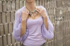 Check out this item in my Etsy shop https://www.etsy.com/listing/503970896/mohair-hand-knit-shrug-loose-knit-boho