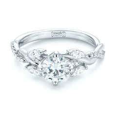 Custom Diamond Engagement Ring #103418 - Joseph Jewelry