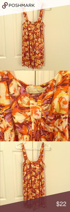 Anthropologie Weston Wear Tunic This colorful piece is perfect for the fashionable free spirit. Can be worn as a tunic or mini dress (32 inches from shoulder to hem; see photo of me wearing it as a mini dress). I am 5 ft 5 in. I think it looks divine with distressed crops.  used condition. Photo 5 shows one flaw, some wearing at shoulder (fabric is double layer, the wear is only on the top layer. 15 in from pit to pit but has plenty of stretch (I have a 36 in bust). 93 rayon/7 spandex. Has…