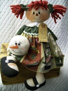 Primitive Cute Raggedy Ann type doll in by yellowsweetpotato