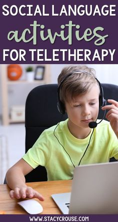 Social language activities that are teletherapy friendly can be he hard to find! This list will spark tons of ideas for your online speech therapy sessions targeting conversation, inferencing, predicting, nonverbal communication and more! Communication Activities, Social Skills Activities, Articulation Activities, Speech Therapy Activities, Language Activities, Learning Resources, Physical Activities, Speech Language Pathology, Speech And Language