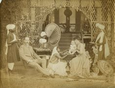 colonial india - Family portrait of an English colonial official with his Indian servants - Northeast India Colonial India, British Colonial Style, British History, American History, English Novels, Northeast India, Vintage India, Indian Art, Victorian Era