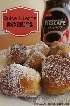 Dulce de Leche Donuts - easy dessert by Mama Maggie's Kitchen