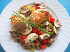 Putenbrust auf Paprika-Champignon-Gemüse | Chefkoch.de