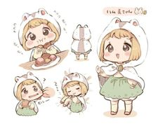 Cute Anime Chibi, Kawaii Chibi, Kawaii Art, Kawaii Anime, Kawaii Drawings, Cute Drawings, Cute Characters, Anime Characters, Illustration Kawaii
