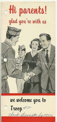 Vintage 1957 Boy Scouts of America Old Photo Welcome Brochure Chuck Bevington | eBay