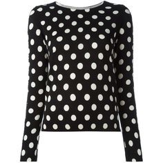 Twin-Set Lace Trim Polka Dot Sweater ($145) ❤ liked on Polyvore featuring tops, sweaters, black, dot sweater, twinset sweaters, lace trim top, twin set sweaters and lace trim sweater