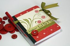 Christmas List Organizer, cute!