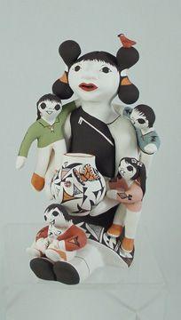 Gorgeous Pueblo Storyteller: Judy Lewis Acoma pottery