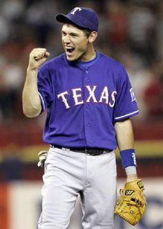 Baseball  TEXAS RANGERS  本塁打30本は固い、二塁手キンスラー。生え抜き、地元でめちゃめちゃ愛されている。
