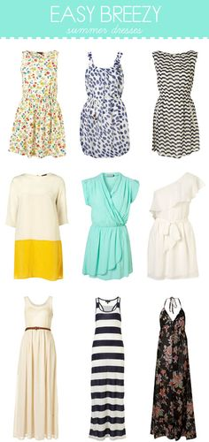 summers dresses ♥ #style #fashion +++For more tips + ideas,     visit http://www.makeupbymisscee.com/