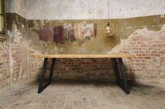 Esstische - Esstisch aus Gerüstbohlen Holztisch Küchentisch  - ein Designerstück von ausliebezumholz_berlin bei DaWanda