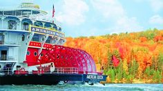 Where you'll go: Sail from St. Louis to Minneapolis with stops in Hannibal, Missouri; Clinton and Dubuque, Iowa; and La Crosse, Wisconsin, on this nine-day voyage on the American Queen, an opulent riverboat, through Mark Twain's riverside America.What you'll see: Enjoy vibrant autumn colors peppered with white church steeples as you cruise down the river, and be greeted by lively locals and their harvest bounties at each port. In Wisconsin and Minnesota, wildlife takes center stage both on…