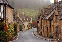 'The Prettiest Village in England' ... Castle Combe, Wiltshire England.
