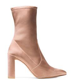 Stuart Weitzman Clinger Boot in Adobe as seen on Kourtney Kardashian Block Heel Ankle Boots, Ankle Booties, Bootie Boots, Rose Gold Boots, Stuart Weitzman, How To Stretch Boots, Stretch Shoes, Designer Boots, Trends