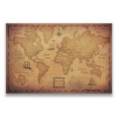 World Map Travel Pin Board - Antique Aged Cork Push Pin Canvas (Golden Aged Style) by ConquestMaps on Etsy https://www.etsy.com/listing/275366216/world-map-travel-pin-board-antique-aged