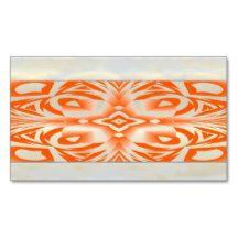 orange, business cards,