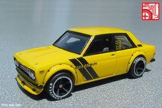 """In Part Mark """"ScaleMaster"""" Jones showed us how to prep standard Hot Wheels cars for customization. In this installment he transforms diecast Datsun 510 and into highly detailed… Custom Hot Wheels, Hot Wheels Cars, Custom Cars, Miniature Cars, Datsun 510, Remote Control Cars, Diecast Model Cars, Nissan Skyline, Twin Turbo"""