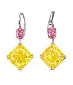 Diamond Heart, Colored Diamonds, Belly Button Rings, Braids, Jewels, Drop Earrings, Gemstones, Pretty, Design