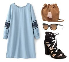 """Denim Dress"" by tania-alves ❤ liked on Polyvore featuring Steve Madden, UGG and Michael Kors"