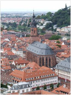 HEIDELBERG (GERMANY): The Heiliggeistkirche (Holy Ghost Church) in Heidelberg was built from 1344 to 1441. It was the burial place of 55 Prince Electors and until 1623 it also hosted the famous Bibliotheca Palatina.