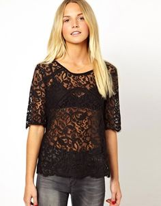 bb2adf97150b6c Image 1 of Vila Awesome Lace Top Vila