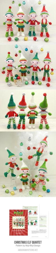 Christmas Elf Quartet amigurumi pattern