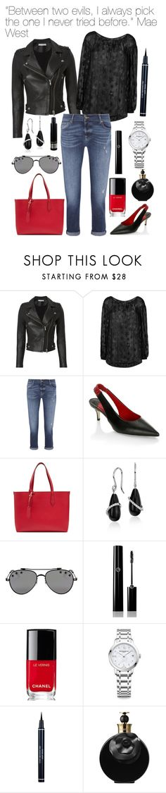 """""""24.08.2017"""" by chrissy6 ❤ liked on Polyvore featuring IRO, Yves Saint Laurent, 7 For All Mankind, Paul Andrew, Burberry, Givenchy, Giorgio Armani, Chanel, Baume & Mercier and Christian Dior"""