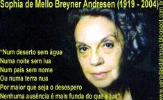 Veredas da Língua: Sophia de Mello Breyner Andresen - Poemas Author, Album, Vivo, Marine Day, Deserts Of The World, Verses, Culture, Houses, Art