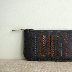 Licorice in Spice Market: Wool Felt Coin Purse or iPhone Cozy by LoftFullOfGoodies