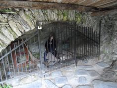 """La Cabotina"" a reconstruction of the gathering place of the witches of Triora in the 16th century."