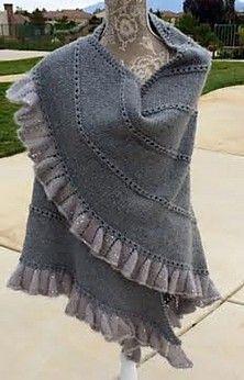 Free knitting pattern for Champagne Run Shawl