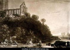 Dumblain Abbey, from the Liber Studiorum, engraved by Thomas Lupton, 1816 - Joseph Mallord William Turner - www.william-turner.org