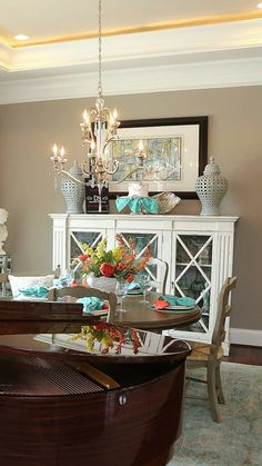 Buffet Table Perfect For Dining Room. Love The Decor