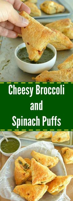 Spice up your party with these crispy and flaky Cheesy Broccoli And Spinach Puffs – a perfect finger food for a party and seriously delicious !