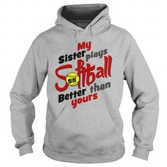 I Love My sister plays better softball 9 Shirts & Tees Tumblr Sweatshirts, Horse Sweatshirts, Tee Design, Sweater Design, Sister Shirts, Tee Shirts, Basic Tshirts, Softball Shirts, Shirt Hoodies