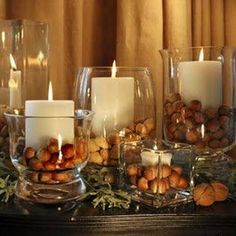 Colors and Decor of the Season!  #fall #autumn colors #homedecor #candles #orange hues #october